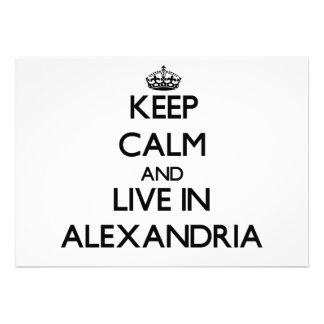 Keep Calm and live in Alexandria Custom Invitation