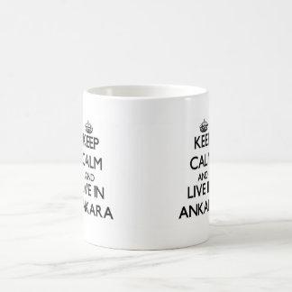 Keep Calm and live in Ankara Classic White Coffee Mug