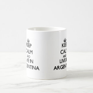 Keep Calm and Live In Argentina Classic White Coffee Mug