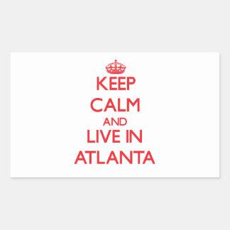 Keep Calm and Live in Atlanta Rectangular Sticker