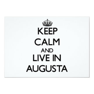 Keep Calm and live in Augusta 5x7 Paper Invitation Card
