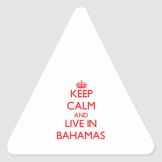 Keep Calm and live in Bahamas Sticker
