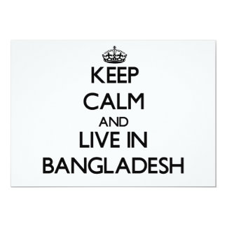 Keep Calm and Live In Bangladesh Invitations