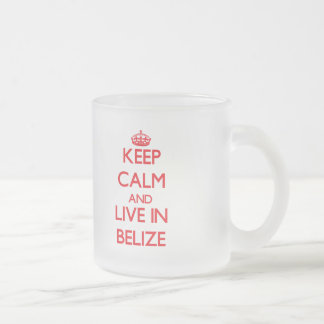 Keep Calm and live in Belize 10 Oz Frosted Glass Coffee Mug