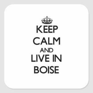 Keep Calm and live in Boise Stickers