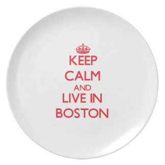 Keep Calm and Live in Boston Dinner Plates