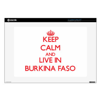 Keep Calm and live in Burkina Faso Skin For Laptop