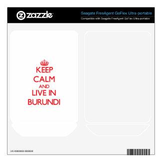 Keep Calm and live in Burundi FreeAgent GoFlex Skins