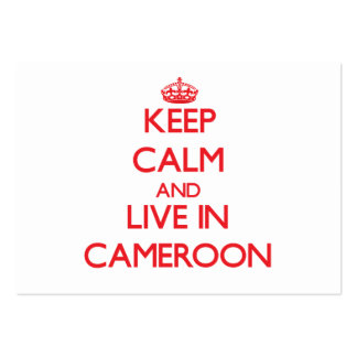 Keep Calm and live in Cameroon Large Business Cards (Pack Of 100)