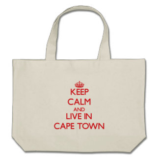 Keep Calm and Live in Cape Town Tote Bags
