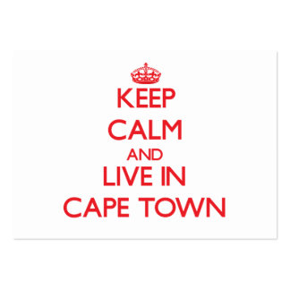 Keep Calm and Live in Cape Town Business Card Template