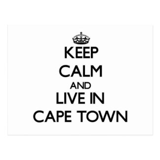 Keep Calm and live in Cape Town Postcard