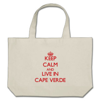 Keep Calm and live in Cape Verde Tote Bag