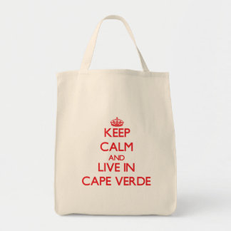 Keep Calm and live in Cape Verde Canvas Bag