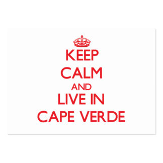 Keep Calm and live in Cape Verde Business Cards