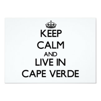 """Keep Calm and Live In Cape Verde 5"""" X 7"""" Invitation Card"""