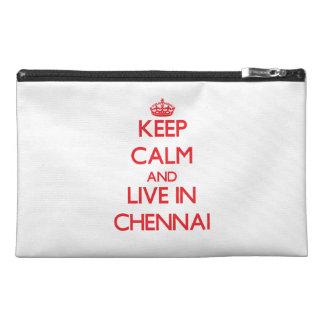 Keep Calm and Live in Chennai Travel Accessories Bag
