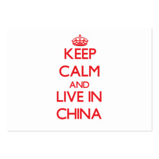 Keep Calm and live in China Business Card Templates