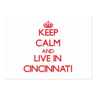Keep Calm and Live in Cincinnati Business Card
