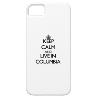 Keep Calm and live in Columbia iPhone 5 Cases
