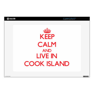 Keep Calm and live in Cook Island Laptop Skins