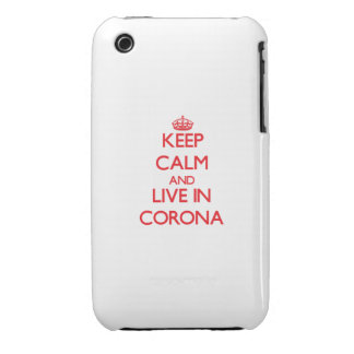 Keep Calm and Live in Corona iPhone 3 Case-Mate Case