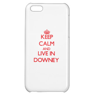Keep Calm and Live in Downey Cover For iPhone 5C
