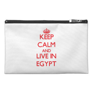 Keep Calm and live in Egypt Travel Accessory Bags