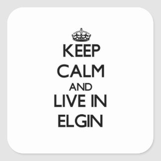 Keep Calm and live in Elgin Square Sticker