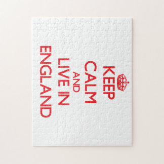 Keep Calm and live in England Jigsaw Puzzle