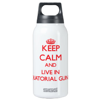 Keep Calm and live in Equatorial Guinea 10 Oz Insulated SIGG Thermos Water Bottle