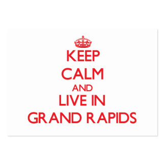Keep Calm and Live in Grand Rapids Business Card Template