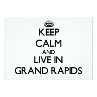 """Keep Calm and live in Grand Rapids 5"""" X 7"""" Invitation Card"""