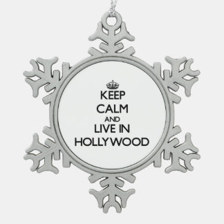 Keep Calm and live in Hollywood Ornament