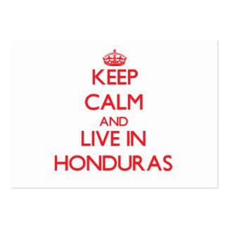 Keep Calm and live in Honduras Business Card