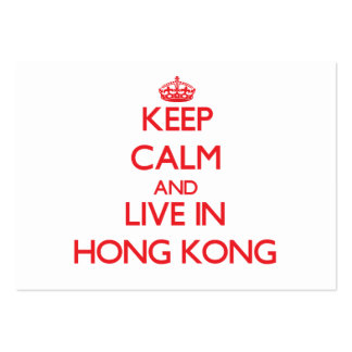 Keep Calm and live in Hong Kong Business Cards