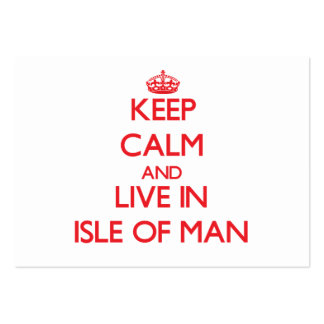 Keep Calm and live in Isle Of Man Large Business Cards (Pack Of 100)