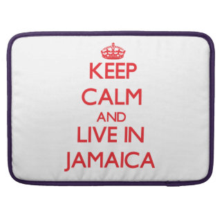 Keep Calm and live in Jamaica MacBook Pro Sleeve