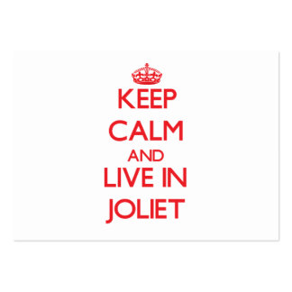 Keep Calm and Live in Joliet Large Business Cards (Pack Of 100)