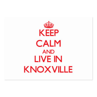 Keep Calm and Live in Knoxville Large Business Cards (Pack Of 100)