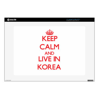 Keep Calm and live in Korea Laptop Decals