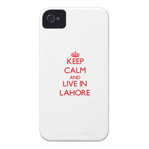 Keep Calm and Live in Lahore iPhone 4 Case-Mate Case