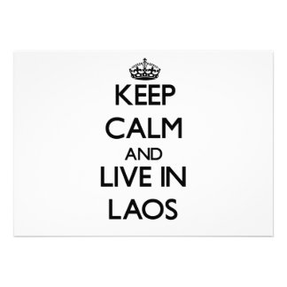 Keep Calm and Live In Laos Custom Invites