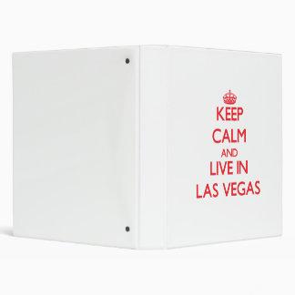 Keep Calm and Live in Las Vegas Vinyl Binders