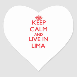 Keep Calm and Live in Lima Heart Sticker