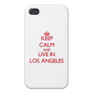 Keep Calm and Live in Los Angeles Case For iPhone 4