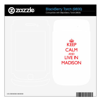 Keep Calm and Live in Madison BlackBerry Skin