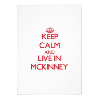 Keep Calm and Live in Mckinney Custom Invitations