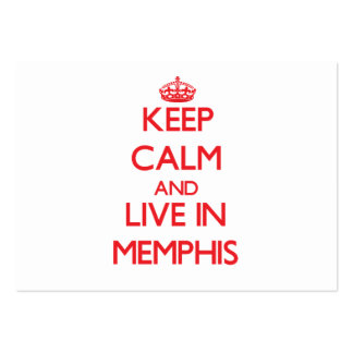 Keep Calm and Live in Memphis Business Cards