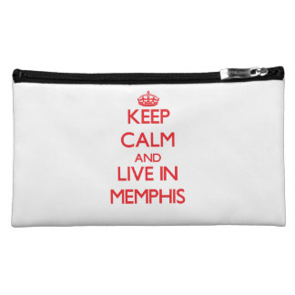 Keep Calm and Live in Memphis Cosmetics Bags
